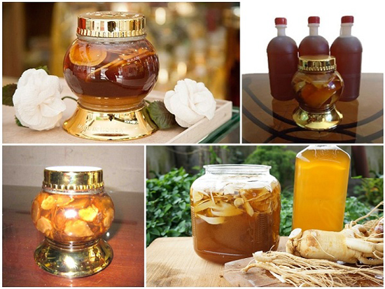 Ngâm rượu sâm với mật ong