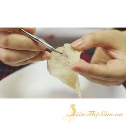 Cách làm sạch lông tổ yến